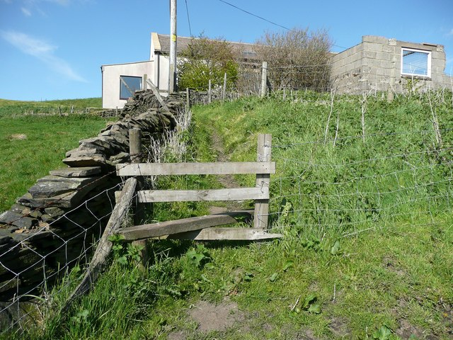 Stile on the Calderdale Way at  Hough Gate Head