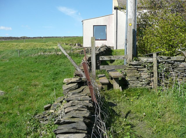 Stile on the Calderdale Way at Hough Gate Head -