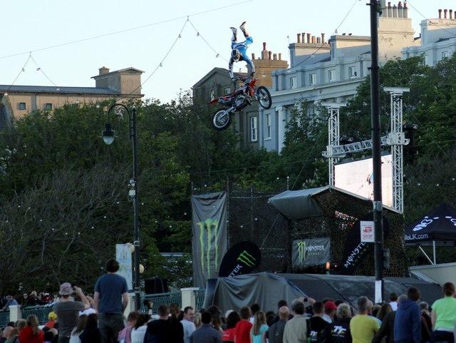T.T. week stunt performer