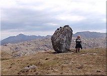 NM9095 : Glacial erratic by Sally
