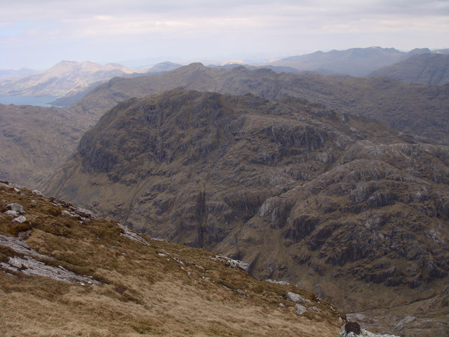 View north from Sgurr na Ciche