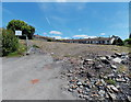 SO1500 : Rubble on the site of a demolished hospital, Aberbargoed by Jaggery