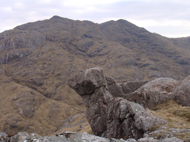 Curious rock at the top of Carn Mor