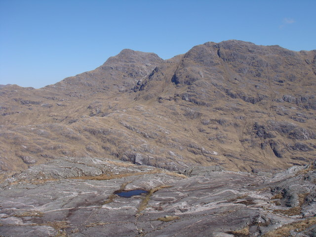 View north from Meall na Sroine