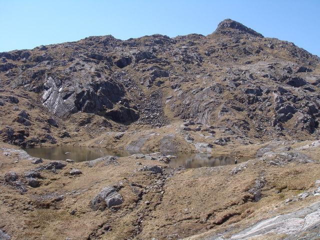 Lochan below Bidein a' Chabair