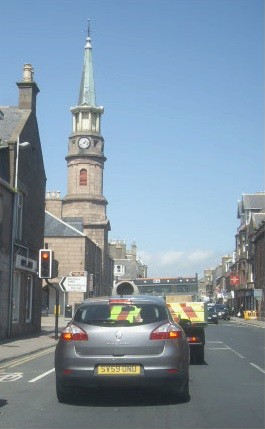 Traffic lights in Stonehaven