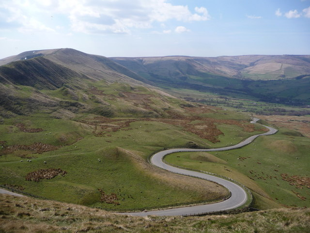 Mam Tor: the winding road to Barber Booth
