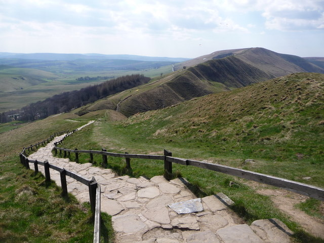 Mam Tor: steps to the summit