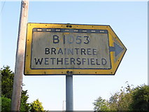 TL7525 : Pre-Worboys sign, Bocking Church Street by David Howard