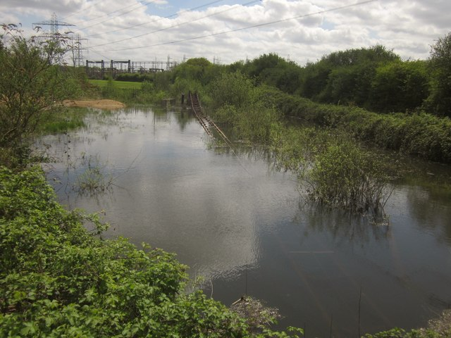 Flooded gravel pit near Wey Manor Farm