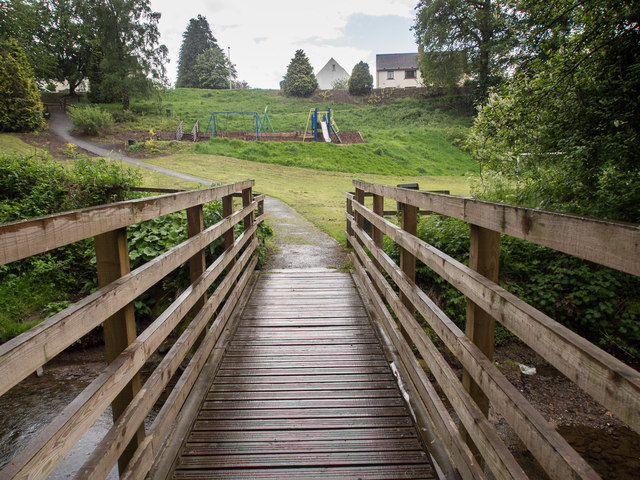 Footbridge across Annaty Burn