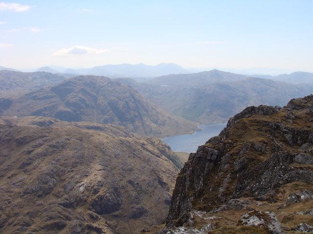 View southwest from Bidein a' Chabair