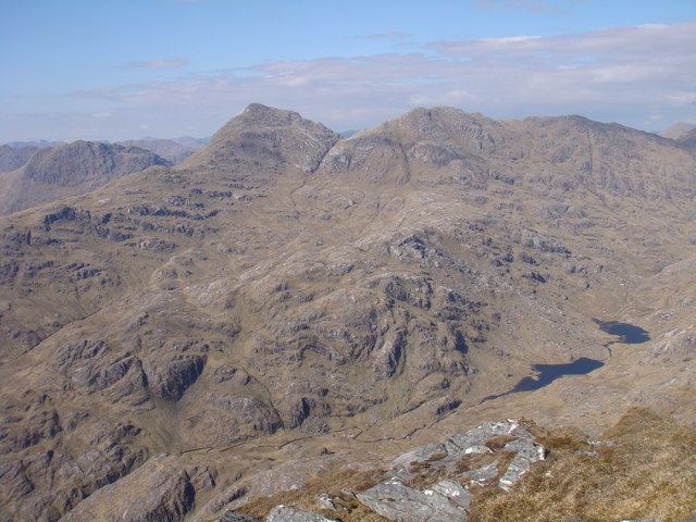 View northeast from Sgurr na h-Aide