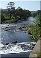 SK2568 : River Derwent downstream from weir by Andrew Hill