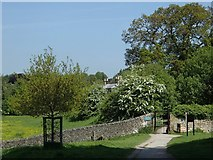 SK2571 : Path towards Baslow from the Chatsworth estate by Andrew Hill