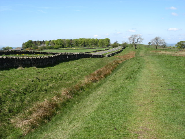 The Hadrian's Wall Path beside the Ditch