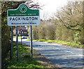 SK3614 : Packington sign along Normanton Road by Mat Fascione