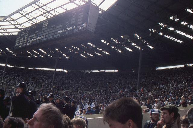 Wembley stadium: the old stadium, west end and scoreboard