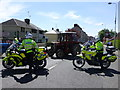 H4572 : Directing traffic, Omagh by Kenneth  Allen