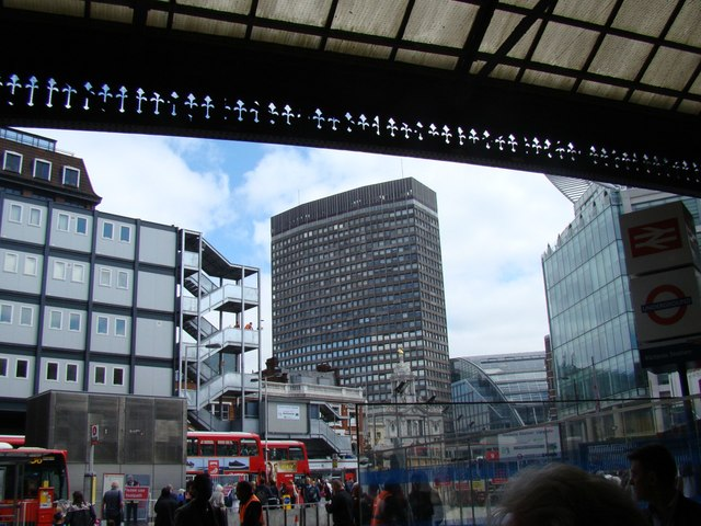 View of Portland House, Bressenden Place  from Victoria Station