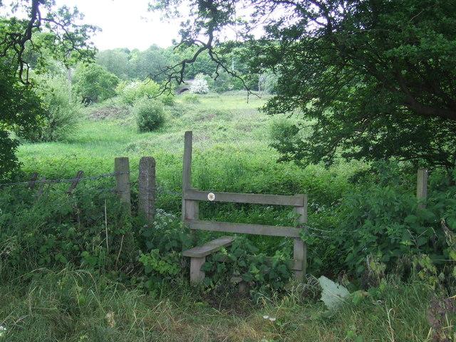 Stile near Denham