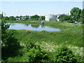 TQ1968 : Hogsmill Valley Sewage Works seen from Berrylands station by Marathon