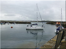 C8540 : Yacht, Portrush Harbour by Kenneth  Allen