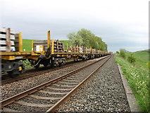 NY6366 : Freight train heading for Carlisle by David Purchase