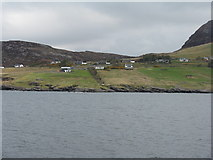 NH0997 : Houses at Rhue by M J Richardson