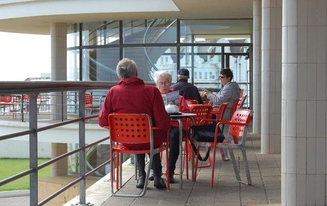 Tea on the terrace, De La Warr Pavilion