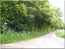 TM4077 : Footpath & entrance to Woodsend by Adrian Cable
