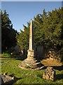 ST4347 : Churchyard cross, Wedmore by Derek Harper