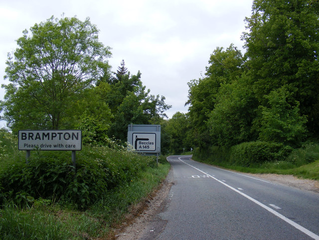 Entering Brampton on the A145 London Road