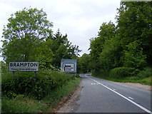 TM4381 : Entering Brampton on the A145 London Road by Adrian Cable