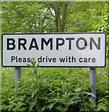 TM4381 : Brampton sign by Adrian Cable