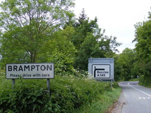 A145 London Road & roadsigns