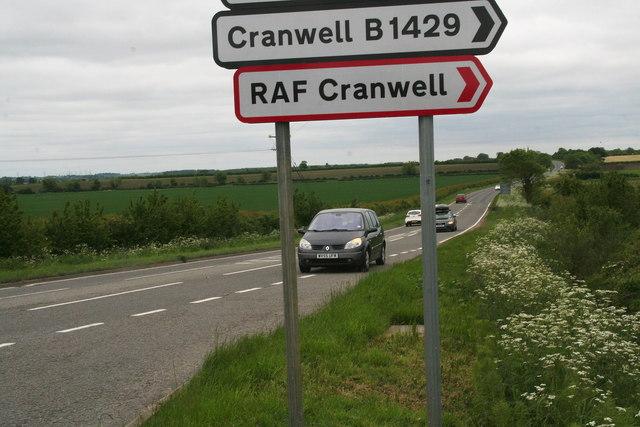 Turn-off to RAF Cranwell