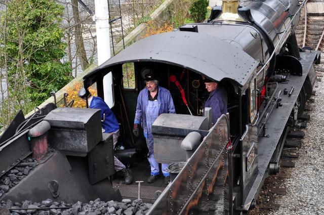 Steam locomotive crew