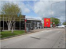 SJ7760 : Sandbach Service Area, Southbound M6 by David Dixon
