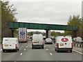 SJ7376 : Rail Bridge over Northbound M6 near Plumley by David Dixon