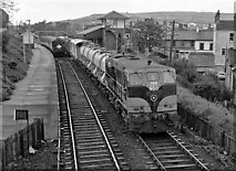J4791 : CIE weed control train departing Whitehead - 1979 by The Carlisle Kid