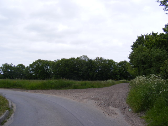 Southwell Road & entrance to Further Green Farm