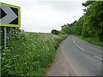 SK6054 : Uphill bend, Haywood Oaks by Christine Johnstone