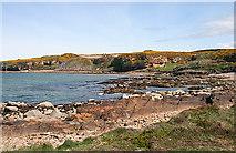 NJ1570 : Coast near Clashach by Anne Burgess