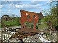 NX6348 : Borgue House Farm sign by Walter Baxter