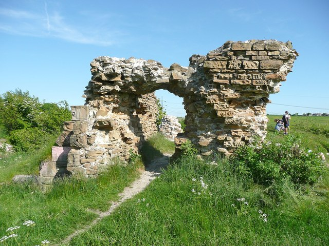 Ruins of Howley Hall, the archway