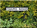 TM4882 : Chapel Road sign by Adrian Cable