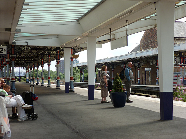 Waiting for the train at Middlesbrough