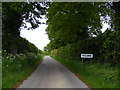 TM4785 : Entering Hulver on Sotterley Road by Adrian Cable