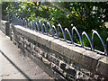 NT2671 : Bespoke garden railings, no.5 Cobden Crescent by Robin Stott